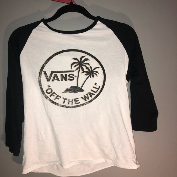Vans long sleeve palm tree baseball tee (Rare ) M 5aa59a6761ca1021108dfe86 edd857efc